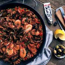Paella With Harissa