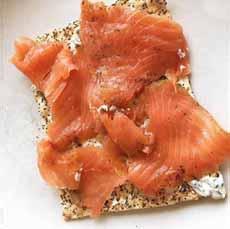 Smoked Salmon On Matzo