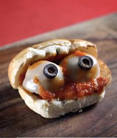 Eyeball Meatball Sandwich Recipe