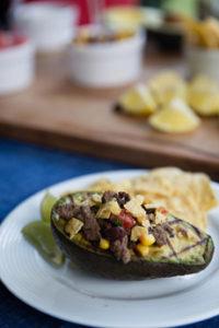 Fajita-Stuffed Grilled Avocado