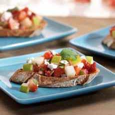 Feta-Pear Crostini