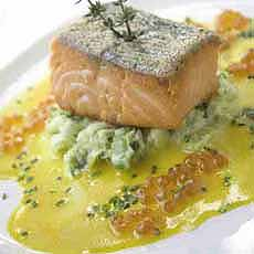 Grilled Salmon With Caviar