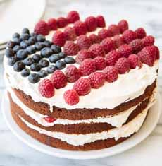 Flag Layer Naked Cake