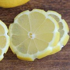 Carved Lemon Flower Slices