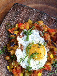 Fried Egg Ratatouille