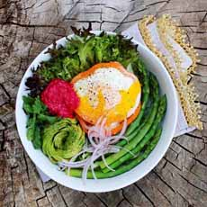 Fried Egg Veggie Bowl