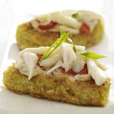 Fried Green Tomatoes With Crab Meat