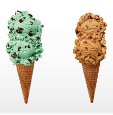 Friendly's Ice Cream Cones