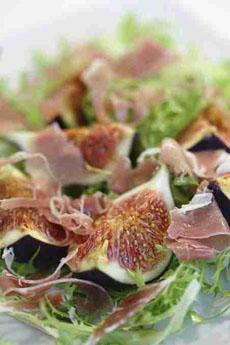 fresh fig and parma ham salad