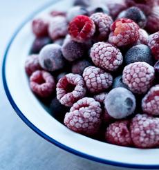 Frozen raspberries & blue berries