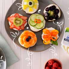 Fruit Topped Bagels