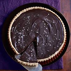Chocolate Tart With Salted Almond Crust