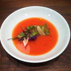 Salad-Topped Gazpacho