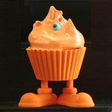 Orange Ghoul Cupcake