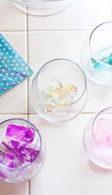 Glitter Ice Cubes