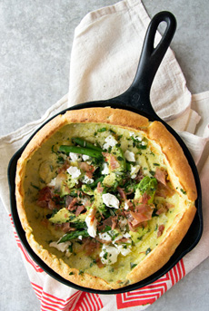 Savory Goat Cheese Dutch Baby