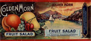 Golden Morn Fruit Cocktail label