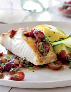 Cod With Grape Salsa