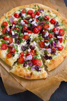 Greek Pizza With Feta