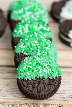 St. Patricks Day Oreos