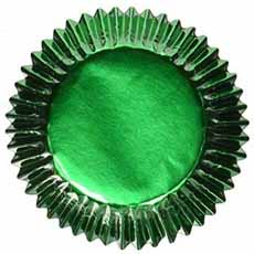 Green Foil Muffin Liners
