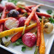 Grilled Carrots & Radishes