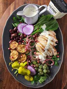 Grilled Chicken Salad Platter