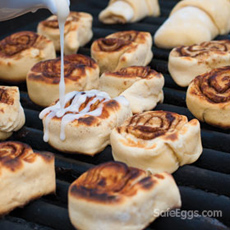 Grilled Cinnamon Rolls Recipe