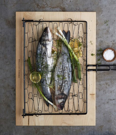 Grilled Fish In Grilling Basket