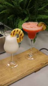 Cocktails With Grilled Fruit Garnish