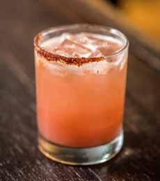 Half Rim Chipotle Salt Guava Margarita