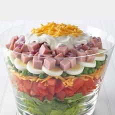 Ham & Egg Layered Salad