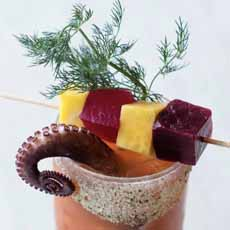 Octopus Garnish Bloody Mary