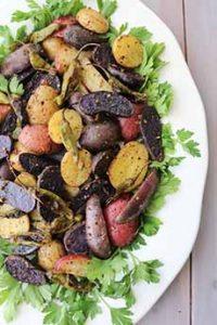 Hot Asian Potato Salad With Shishito Peppers