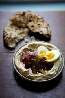 Salad-Topped Hummus