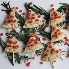Pita Christmas Trees