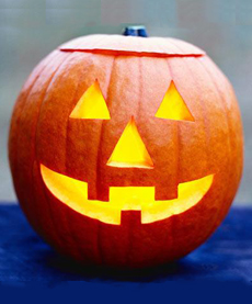 Halloween Jack O Lantern Glowing Pumpkin. FOR DAILY TRAVEL DO NOT USE