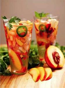 Peach Jalapeno Iced Tea