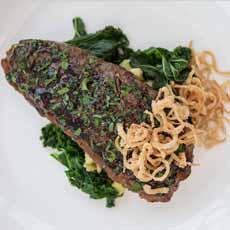 Strip Steak With Kale