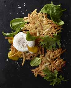 Latkes With Poached Eggs