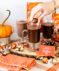 Lindor Pumpkin Spice  Hot Chocolate