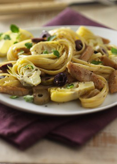 Pasta With Artichokes & Olives Recipe
