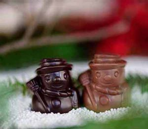 Little Chocolate Snowmen