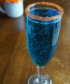 Chanukah Champagne Cocktail