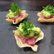 Tuna Guacamole Hors d'Oeuvre