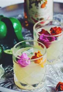 Mai Tai With Flowers