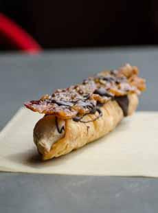 Maple Bacon Cannoli