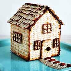 Matzo Gingerbread House
