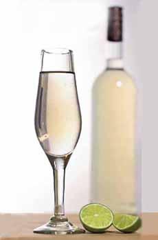 Mezcal Bottle & Glass