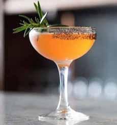 Mezcal Cocktail With Black Lava Salt